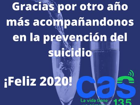 Gracias por otro año más acompañandonos en la prevención del suicidio