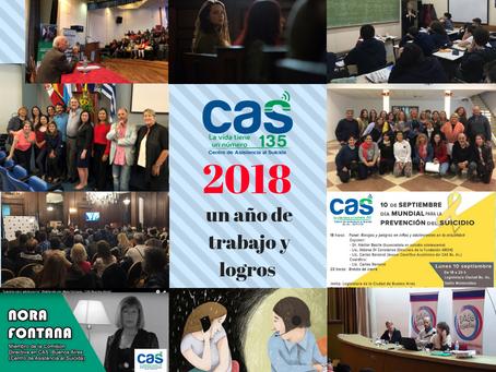 2018: Un año de trabajo y logros para el Centro de Asistencia al Suicida
