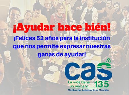Centro de Asistencia al Suicida: ¡52 años cuidando la vida!