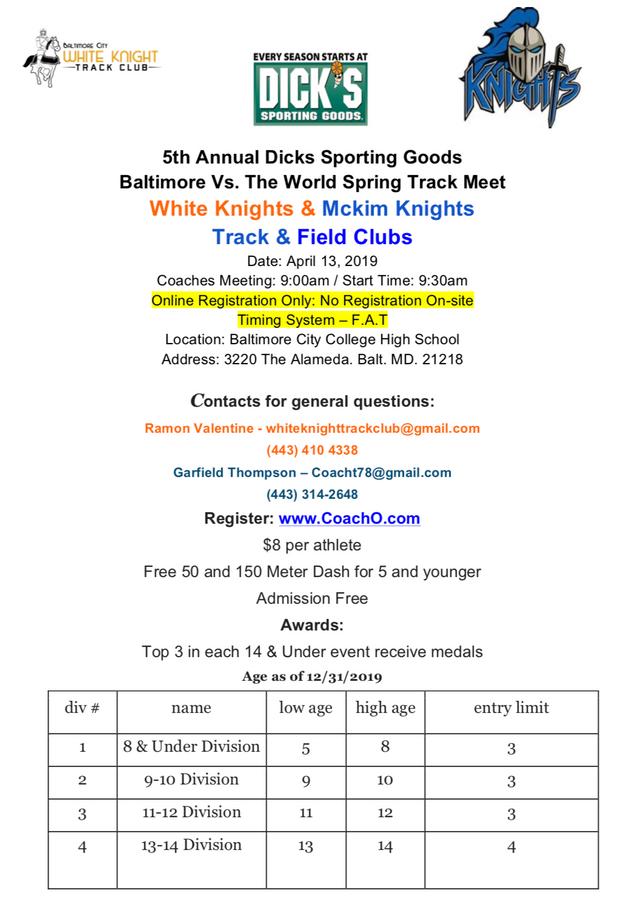 5th Annual Meet is Saturday, April 13th