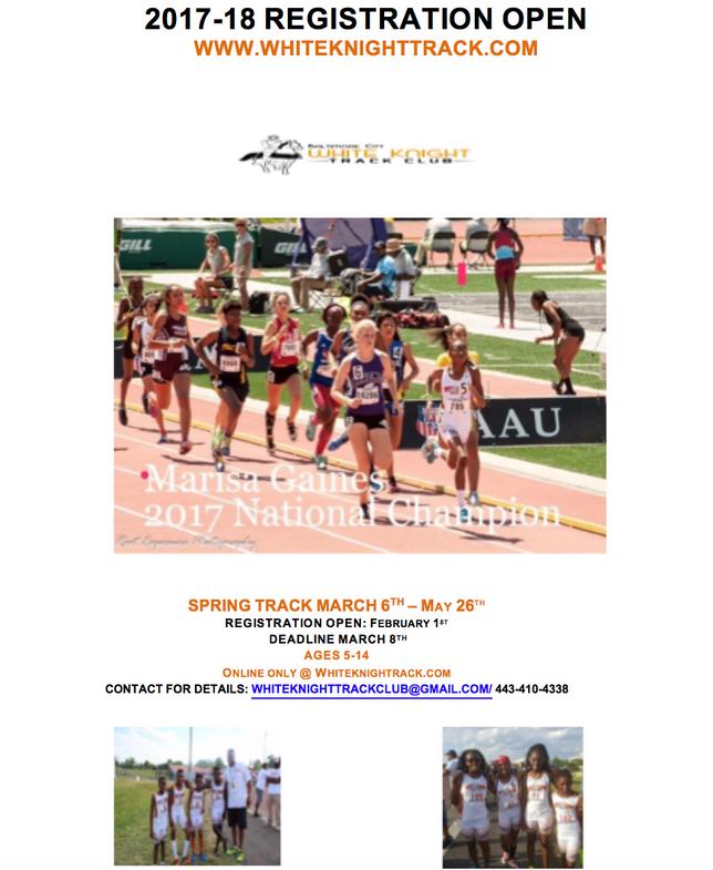 Spring Registration Open            Deadline: March 8th                           Practice Begin: