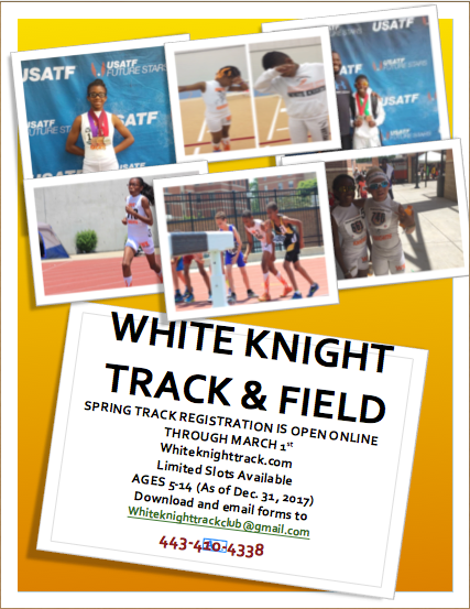 2017 Spring Track Registration is Open
