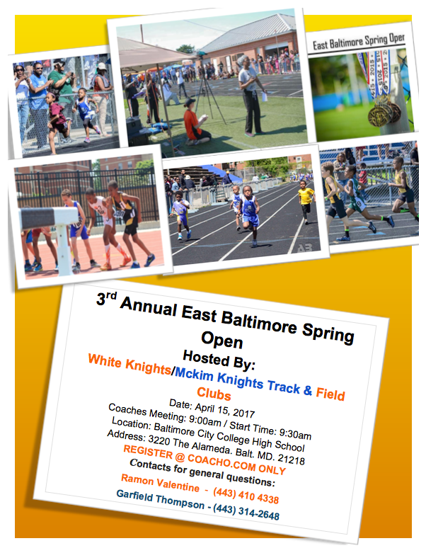 3rd Annual East Baltimore Spring Open