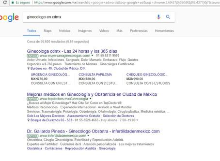 Doctores invirtiendo en Google Adwords