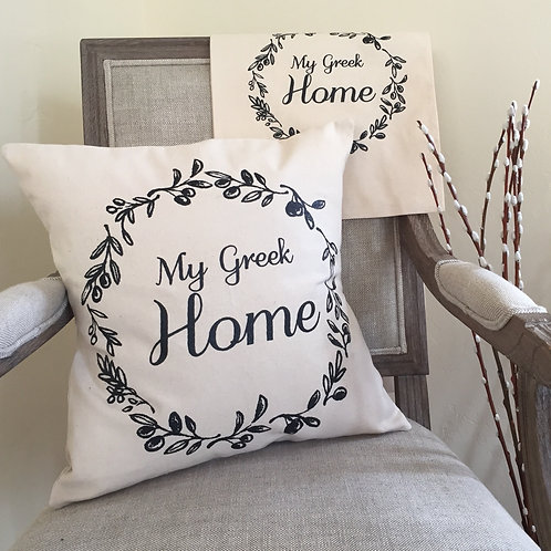 My Greek Home  © Pillow Cover