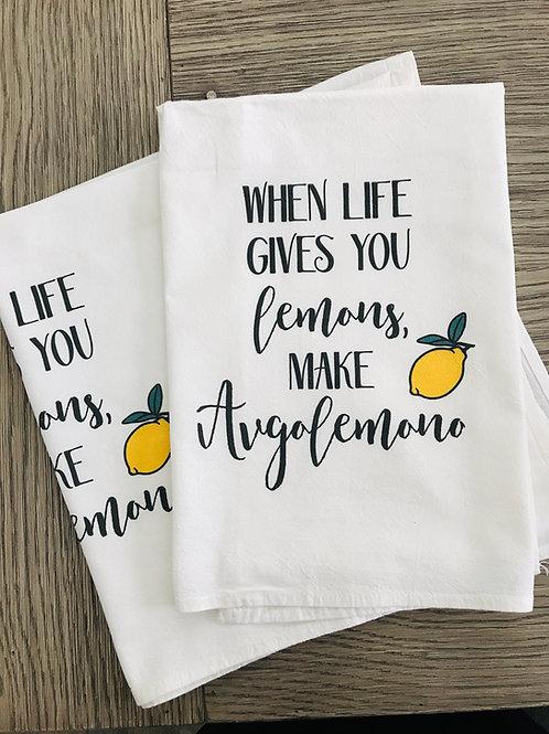 When life gives you lemons, make avgolemono kitchen towel