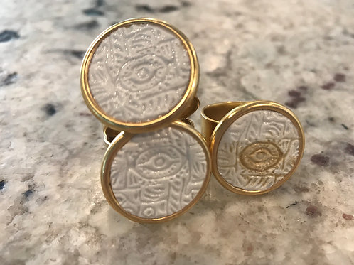 Greek Eye Ring, Mati Ring