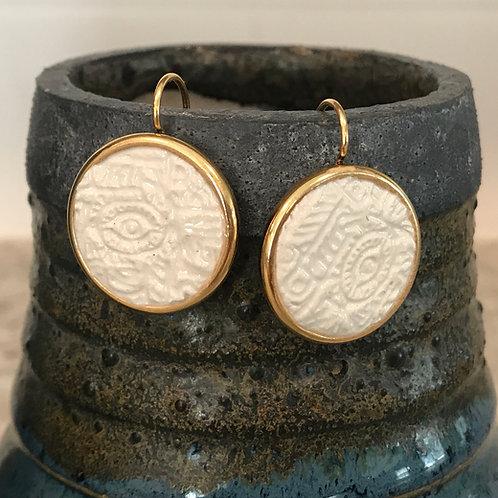Greek Eye Earrings, Greek Mati Earrings