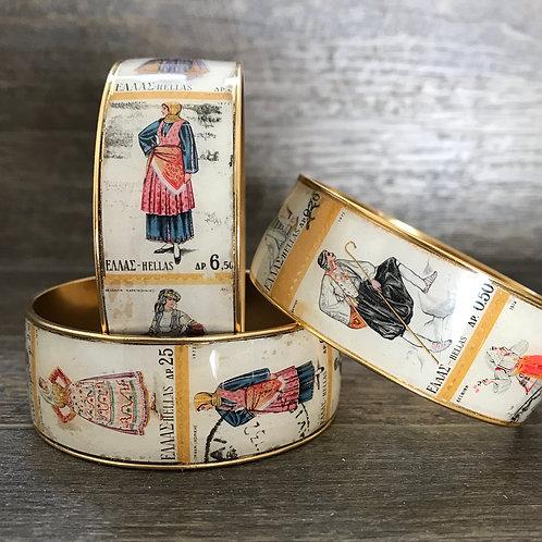 Greek Costume Stamp Bracelet