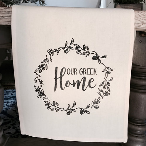 Our Greek Home Table Runner