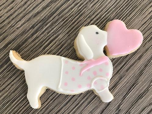 Dachsund Valentine Cookies