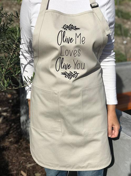 Olive me loves Olive you Apron