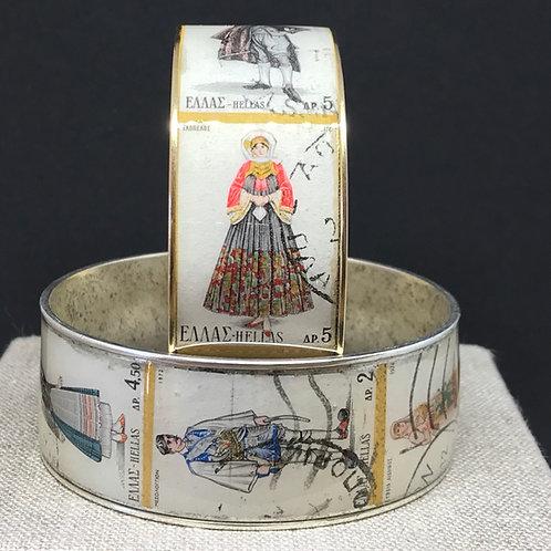 Greek Costume Postage Stamp Bracelet