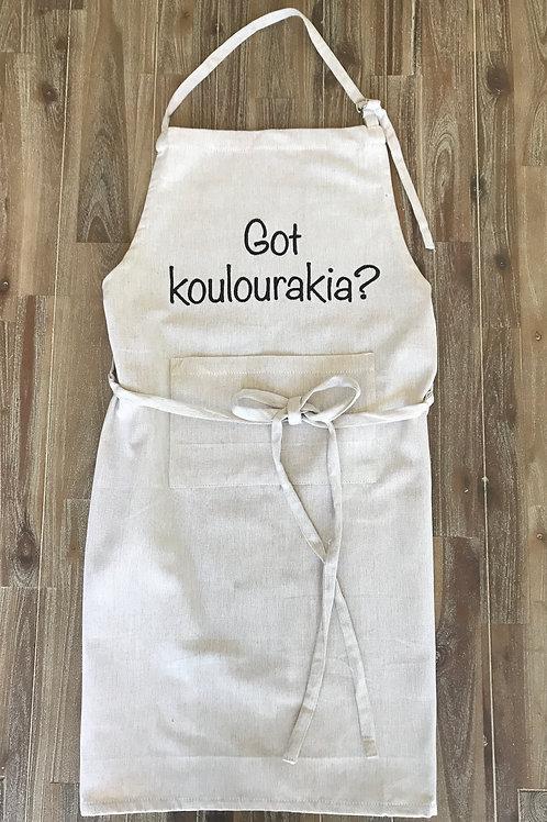 Got Koulourakia? © Apron, Greek Cookie Apron