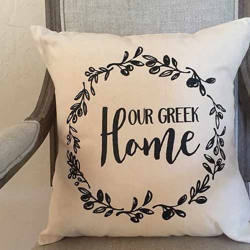 Our Greek Home pillow cover