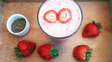 Super Healthy Strawberry Almond Chia Seed Smoothie Recipe