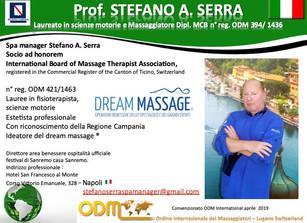 Registration 2020: Spa manager Stefano Antonio Serra, Naples Honorary Member International Board of