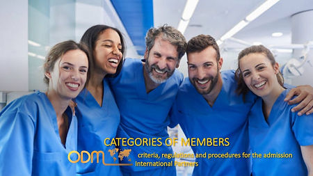 CATEGORIES OF MEMBERS, criteria, regulations and procedures for the admission ODM Partners