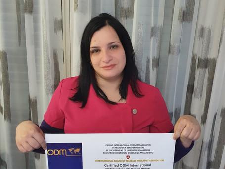 Registration International Board of Massage Therapist 2021: Daniela Vagnozzi 🇮🇹