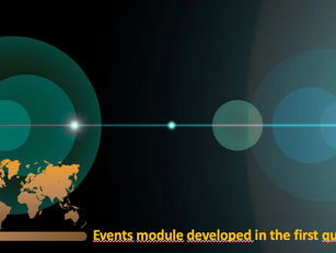 Events module developed in the first quarter of 2021