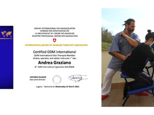 Registration and renewals March 2021: Andrea Graziano, ODM International elite therapist member