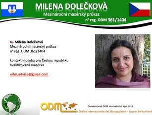 🇨🇿 Registrations Association International Board of Massage Therapist 2019:   Milenka Dolečková