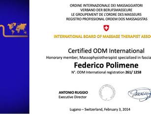 Federico Polimene Member ad Honorem  International Board of Massage Therapist Association