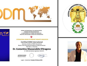 Professional profiles ODM International 2021:           Dr. Costantino Mazzanobile D'Aragona
