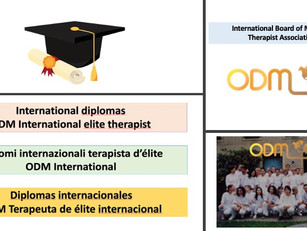 International diplomas ODM International elite therapist