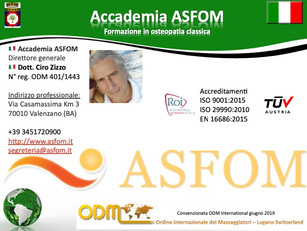 🇮🇹 Affiliations schools and professional associations 2019, ASFOM Academy - Valenzano (BA) Italy