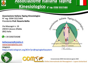 Conventions for training institutions 2020: Italian Kinesiological Taping Association