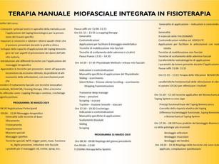 🇮🇹 30/31 marzo 2019 ANFOS Bitonto, Italy Corso teorico pratico terapia miofasciale integrata in Fi