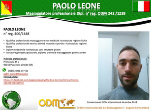 Registration 2019: Paolo Leoni                  Italy section.