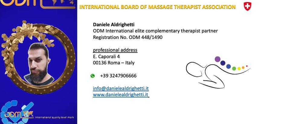 Professional Profile ODM International Daniele Aldrighetti 🇮🇹 updated Tuesday, October 26, 2021