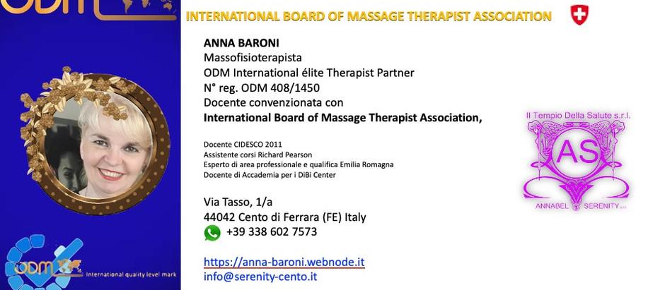 Professional Profile ODM International Plus Anna Baroni 🇮🇹, updated Tuesday 5 October 2021