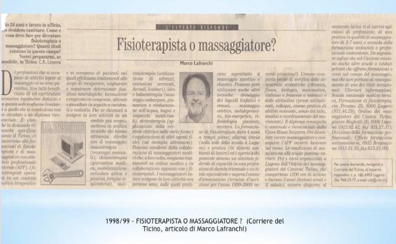 04. 1998 - Fisioterapista o massaggiator