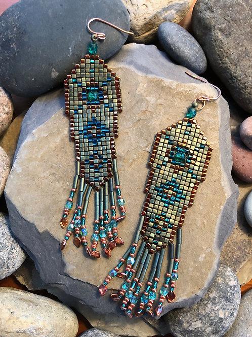 Sage Squared Earrings