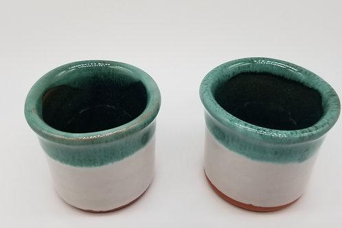 4 Green Shot Pots
