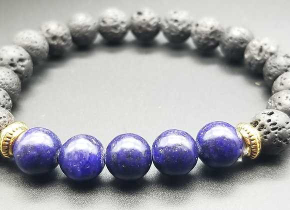 Blue Lava Stone Bracelet