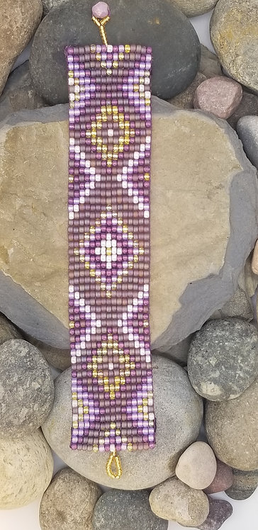 Lavender Geometrics Bracelet