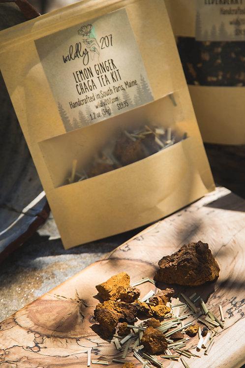 Lemon Ginger Chaga Tea Kit