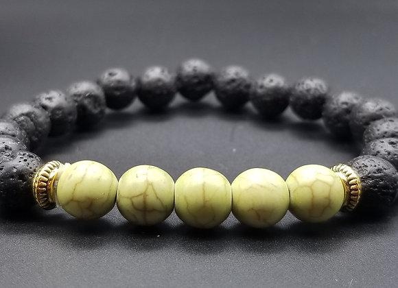 Green Lava Stone Bracelet