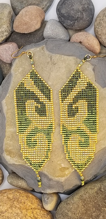 Jade Gold Dangles