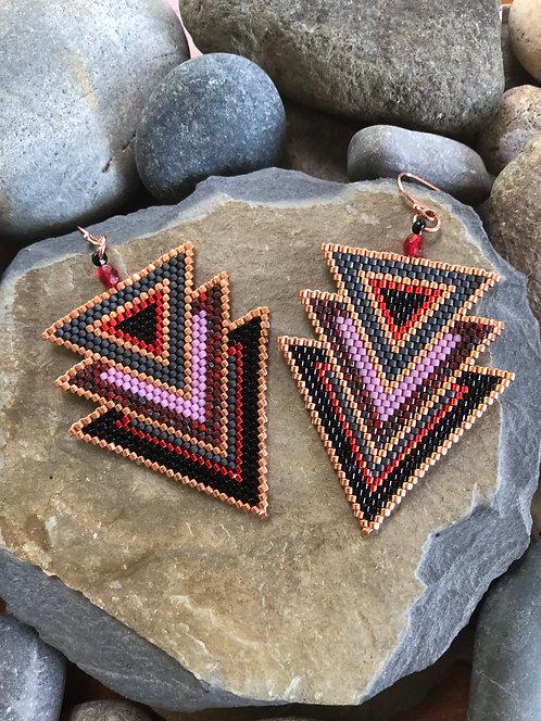 Black Copper Triple Triangles