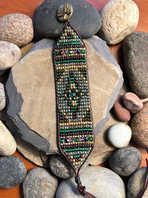 Olivine Arrow Bracelet