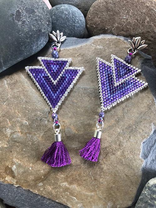 Purple Tassels