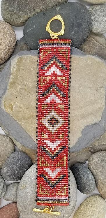 Ruby Geometrics Bracelet