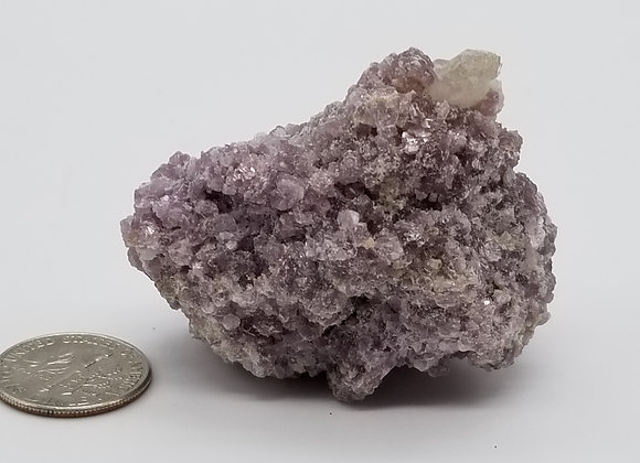 Lepidolite with Quartz Crystal