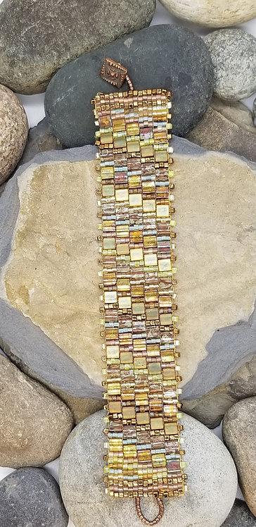 Mixed Metallics Tile Bracelet