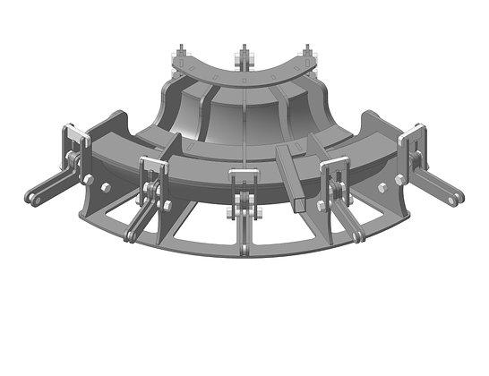 Пресс-формы для отводов ППУ